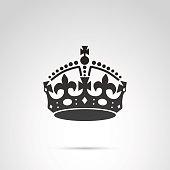English crown vector icon.