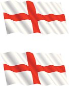 English Flag Flying in the Wind