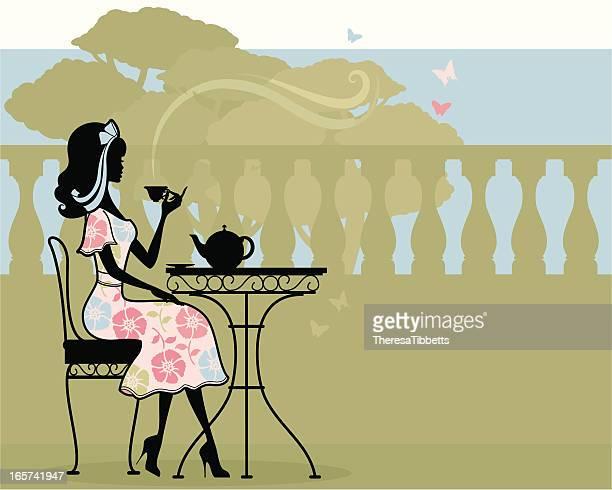 english tea - afternoon tea stock illustrations, clip art, cartoons, & icons