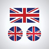 English trio flags, vector illustration