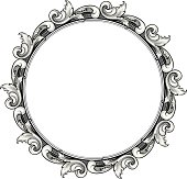 engraved Circle Scroll Frame