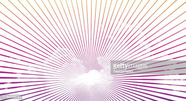 engraved cloudscape with sunbeams - afterlife stock illustrations, clip art, cartoons, & icons
