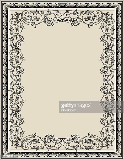 Engraved Frame Acanthus