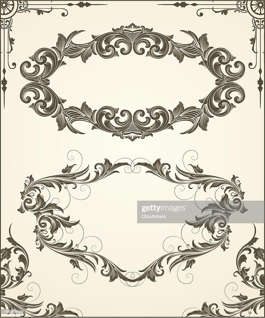 Engraved Frame and Corner Set