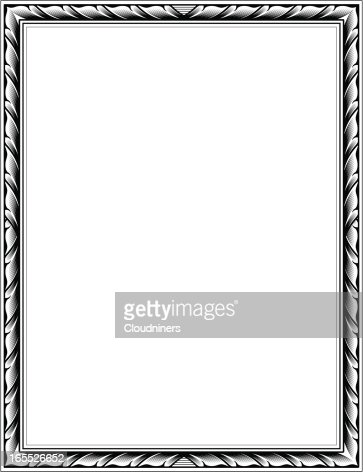 engraved frame vector art getty images - Engraved Picture Frame