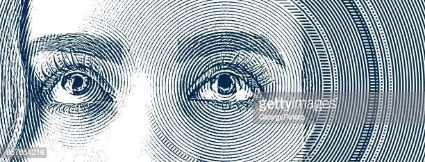 ilustrações, clipart, desenhos animados e ícones de gravura dos olhos de uma mulher jovem - olho