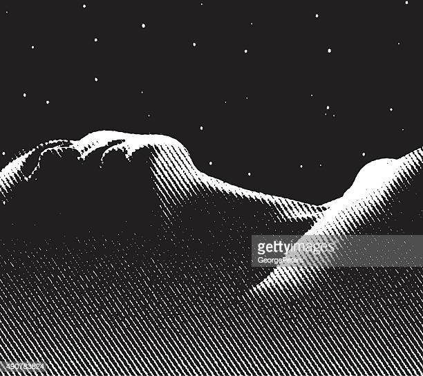 engraving of serene woman enjoying a good nights sleep - sleeping stock illustrations