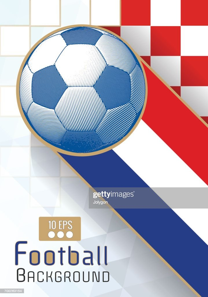 Engraving soccer ball graphic layout