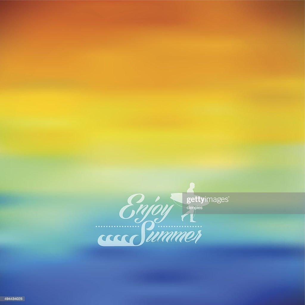 Enjoy Summer colorful blurred background