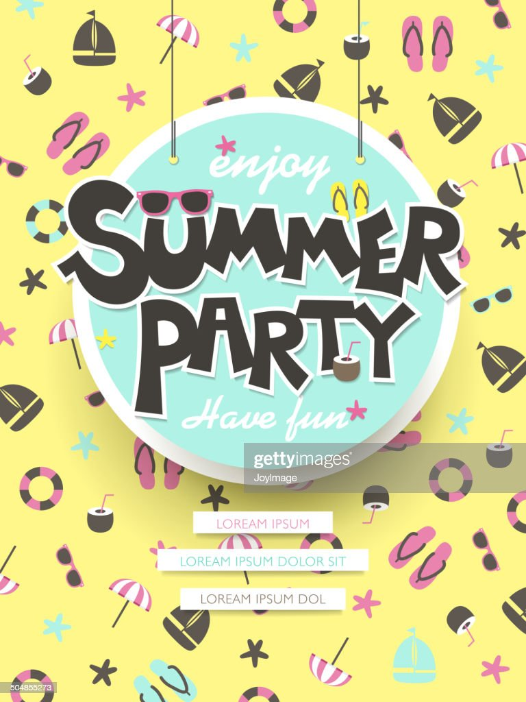 enjoy summer party poster