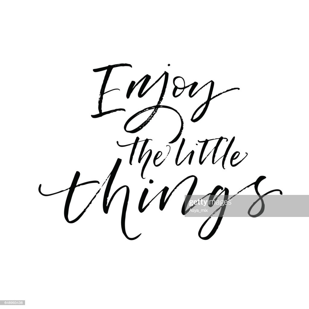 Enjoy the little things postcard.