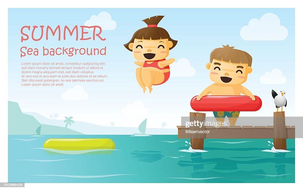 Enjoy tropical summer holiday background 3