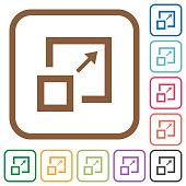 Enlarge window simple icons