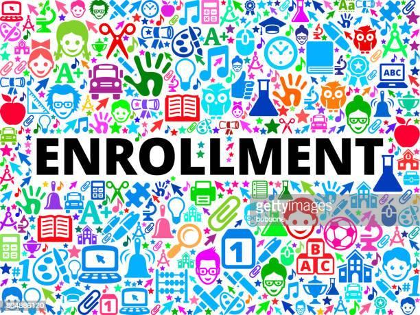 登録学校と教育ベクトル アイコン背景 - 加入点のイラスト素材/クリップアート素材/マンガ素材/アイコン素材