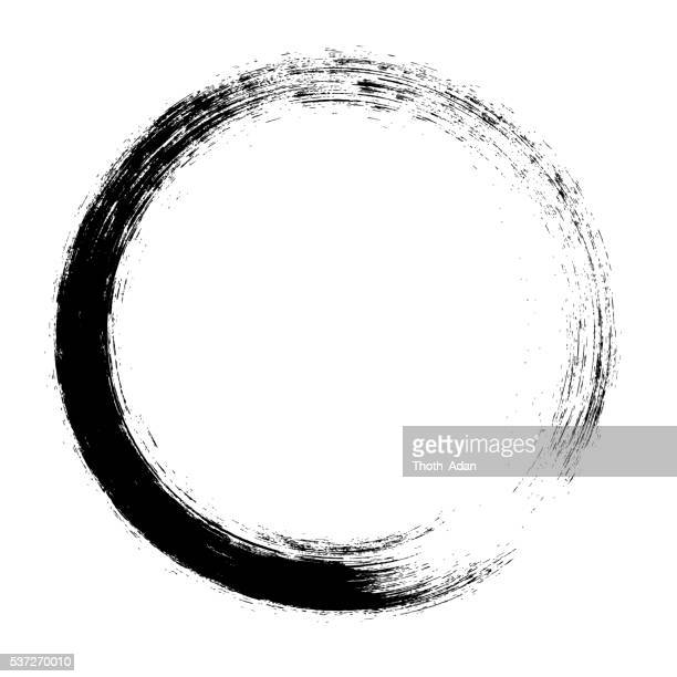 Enso – Circular brush stroke (Japanese zen circle calligraphy n°3)