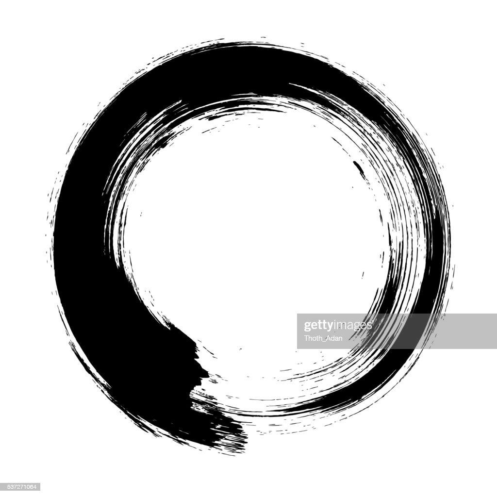 Enso – Circular brush stroke (Japanese zen circle calligraphy n°8)