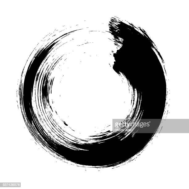 Enso – Circular brush stroke (Japanese zen circle calligraphy n°10)