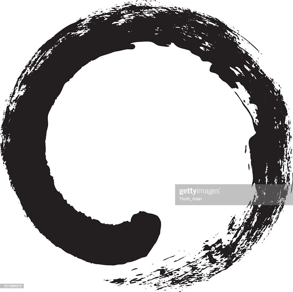 Enso – Japanese zen circle calligraphy