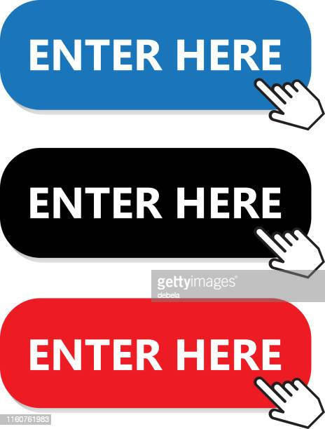Enter Here Button Collection With Hand Pointer