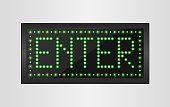 Enter light sign background