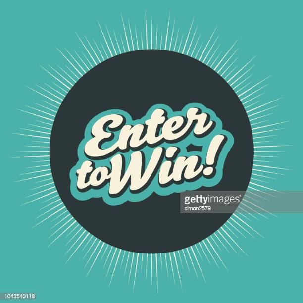 enter to win banner backgound - contestant stock illustrations