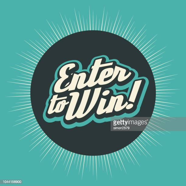 enter to win banner backgound - entrance stock illustrations