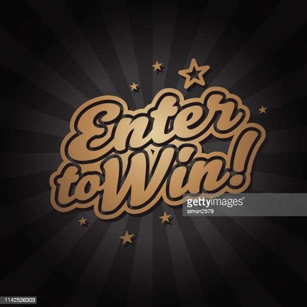 enter to win banner backgound - entering stock illustrations