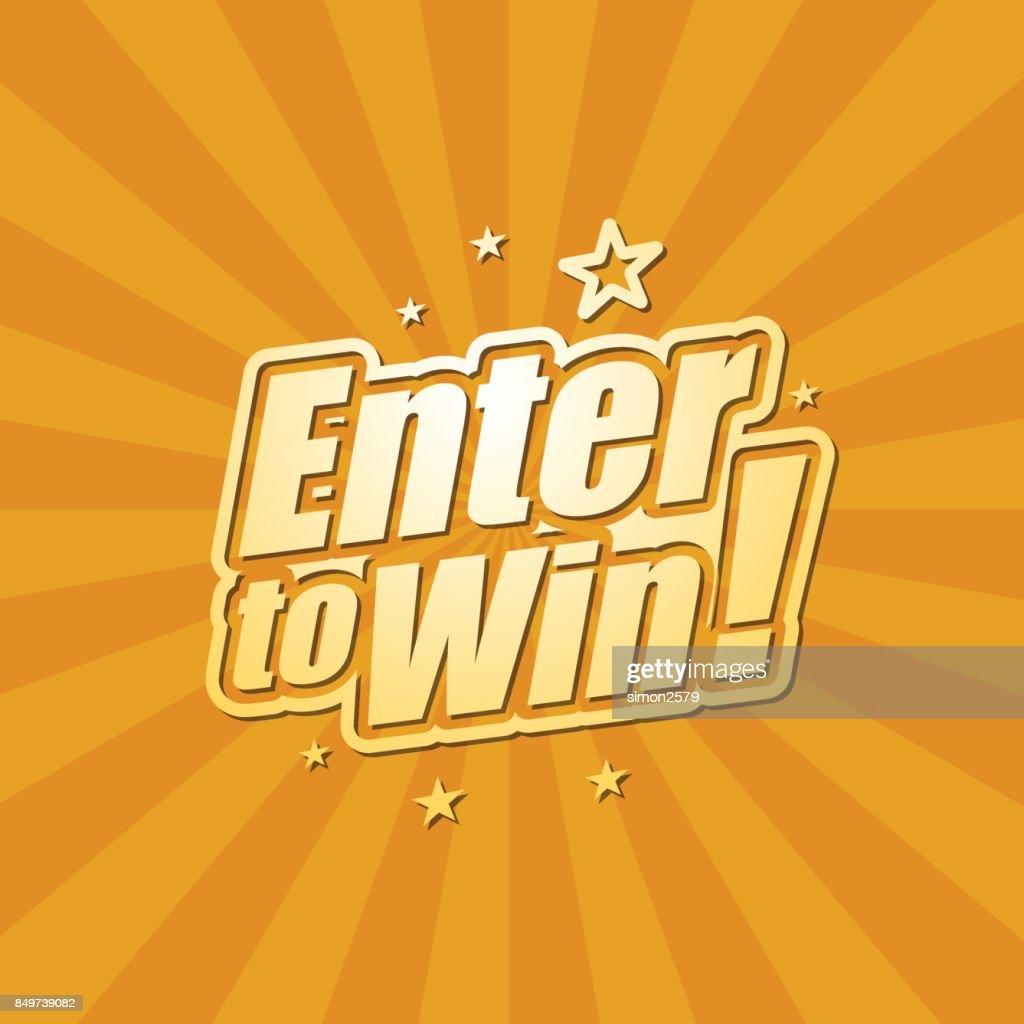 Enter to win banner : stock illustration