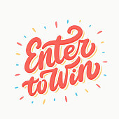 Enter to win sign.