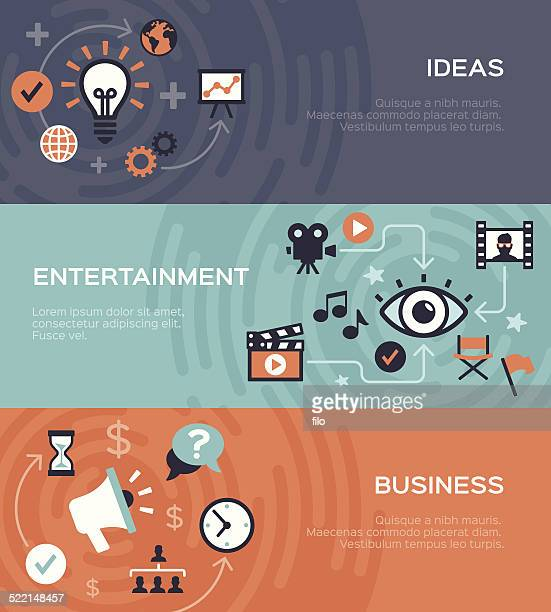 Entertainment and Business Banners