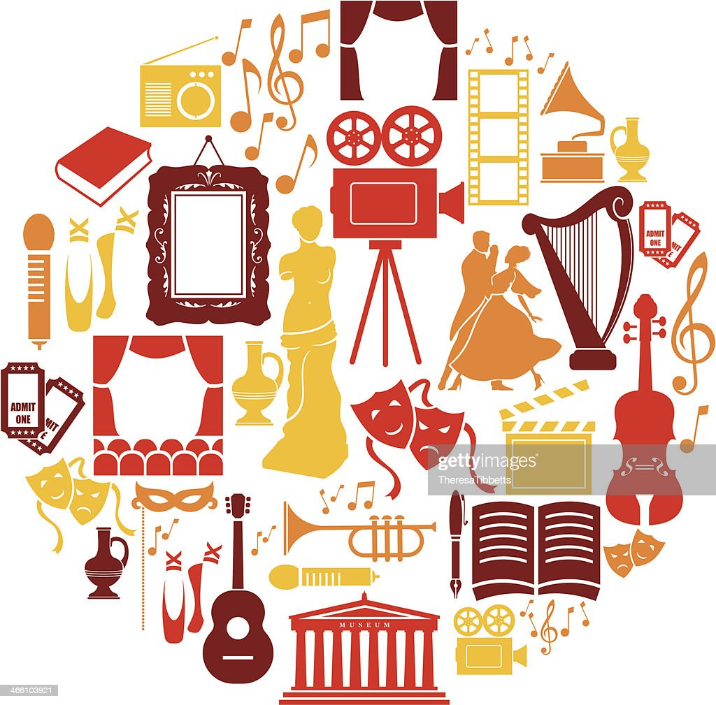 Entertainment And Culture Icon Set High-Res Vector Graphic - Getty Images