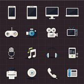Entertainment and electronic icons