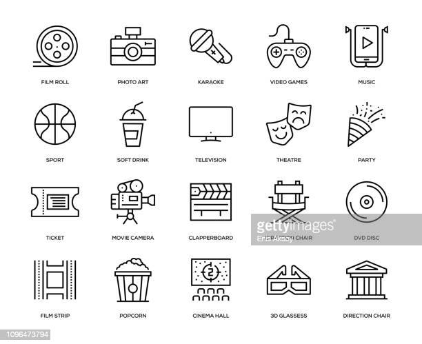 entertainment icon set - arts culture and entertainment stock illustrations