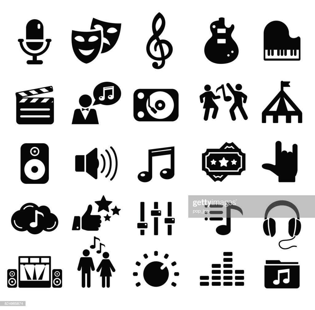 Entertainment icons - illustration