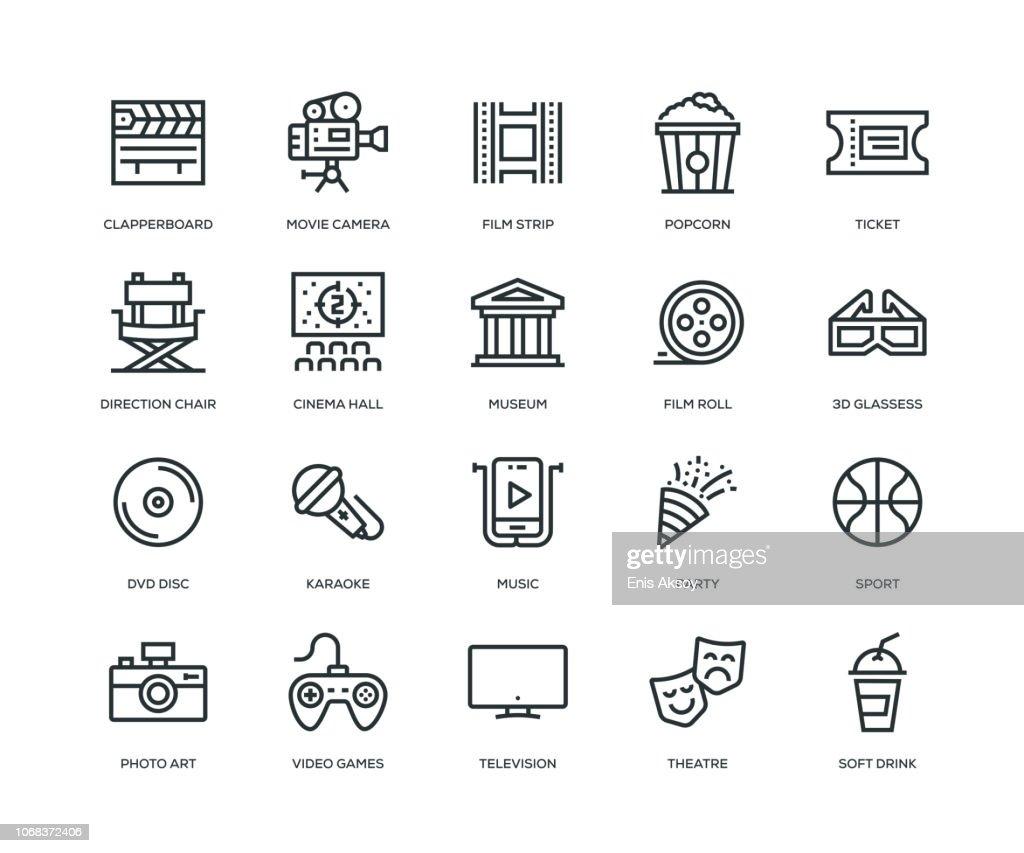 Entertainment Icons - Line Series : Illustrazione stock