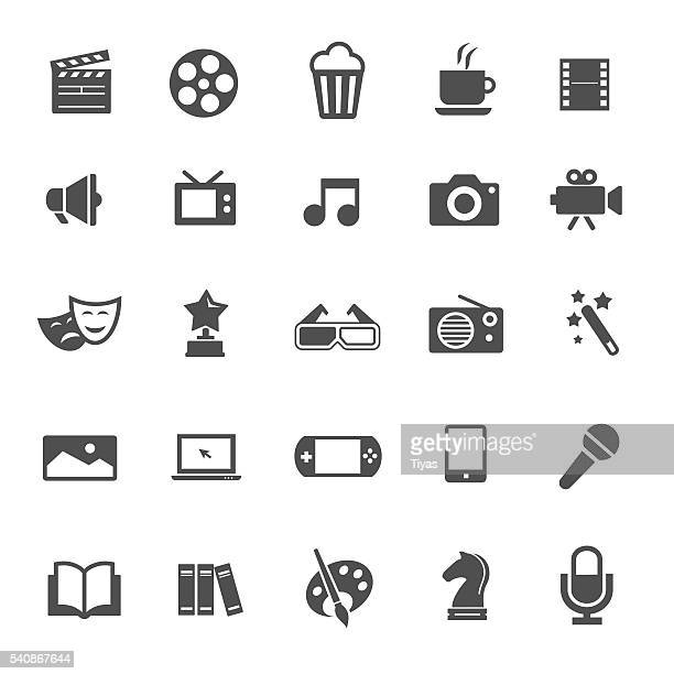 entertainment icons - video camera stock illustrations, clip art, cartoons, & icons