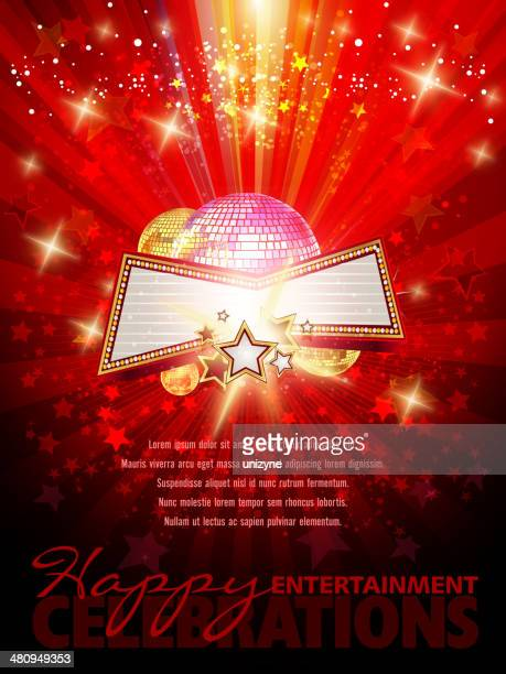 Entertainment Marquee Background with Copy space
