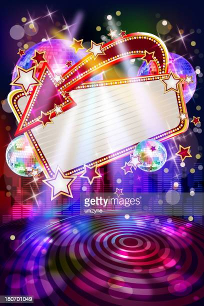 Entertainment - Musical Party Background with Marquee