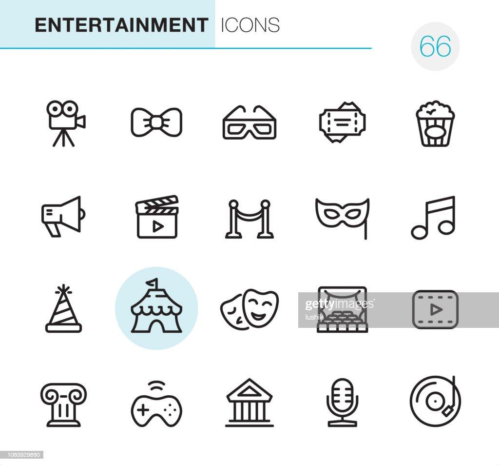 Entertainment - Pixel Perfect icons : stock illustration