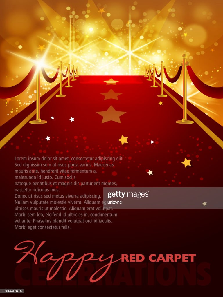 Entertainment Red Carpet Background with Copy space : stock illustration