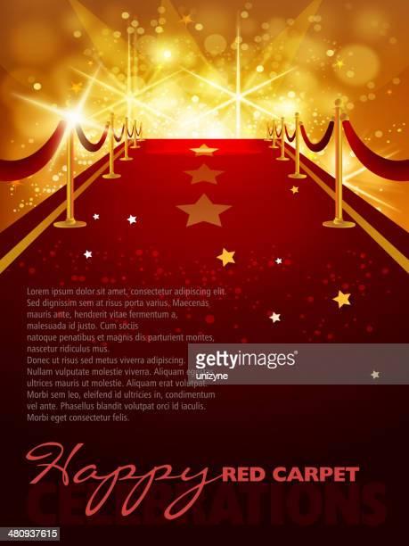 Entretenimiento en la alfombra roja fondo con espacio de copia