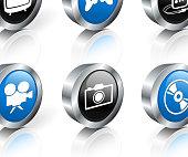entertainment royalty free vector icon set