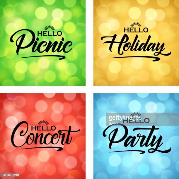 entertainment sign - pop music stock illustrations