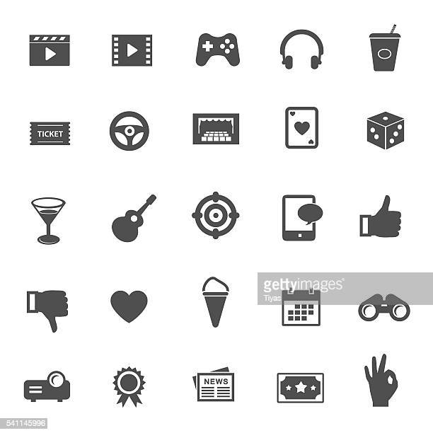 entertainment vector icons - fashion collection stock illustrations