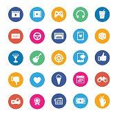 Entertainments vector icon set