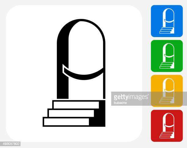 Entrance Icon Flat Graphic Design