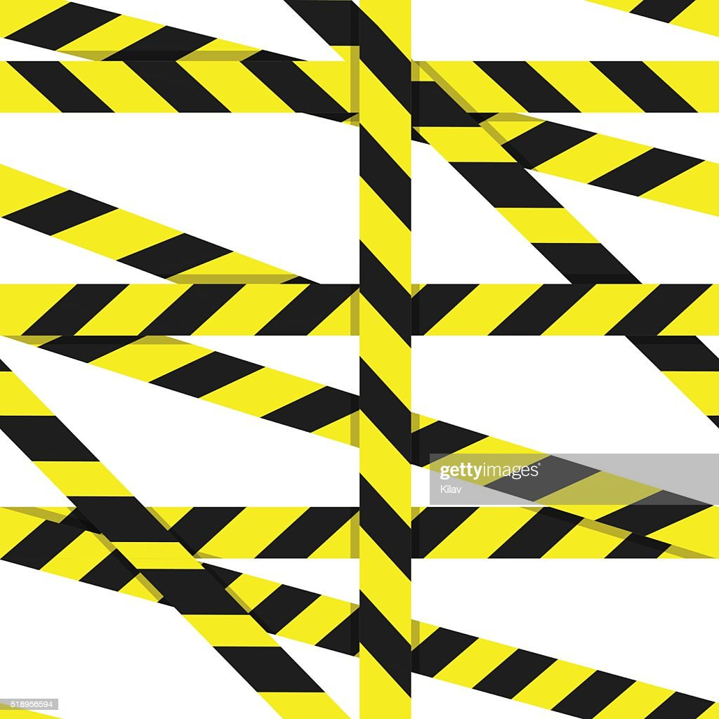 Entrance prohibited background seamless yellow warning caution ribbon