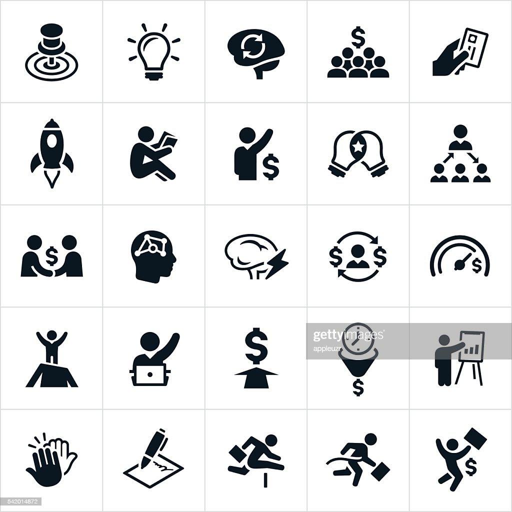 Entrepreneur Icons : stock illustration