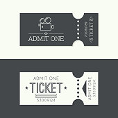 Entry ticket to old vintage style