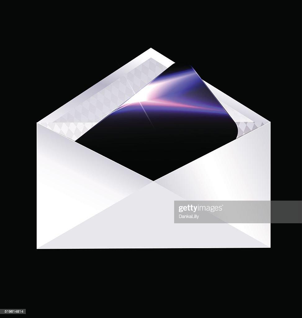 envelope and black card